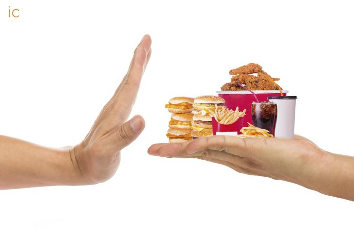 dejar la comida basura