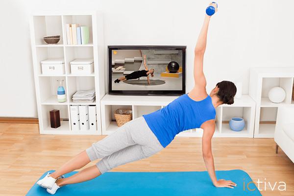 Empieza hoy a hacer ejercicio físico y te pondrás en forma desde casa