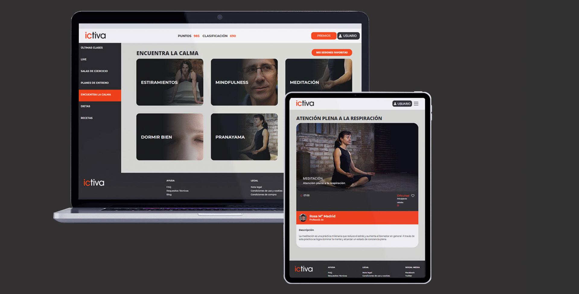 Plataforma ictiva Tu Gimnasio Online